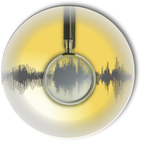 podcast evidence analysis icon