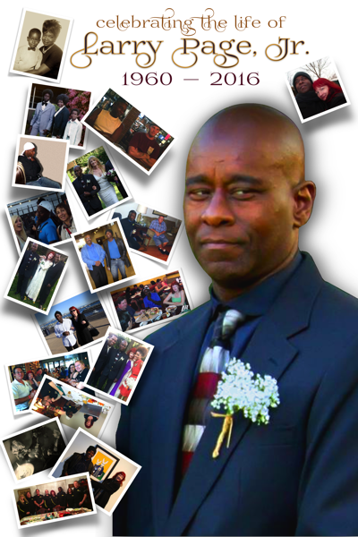 Larry Page Celebration of Life poster
